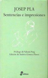 Sentencias e impresiones - Josep Pla